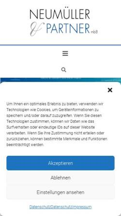 Vorschau der mobilen Webseite www.neumueller-partner.com, Rechtsanwalts- und Steuerkanzlei Neumüller &Partner