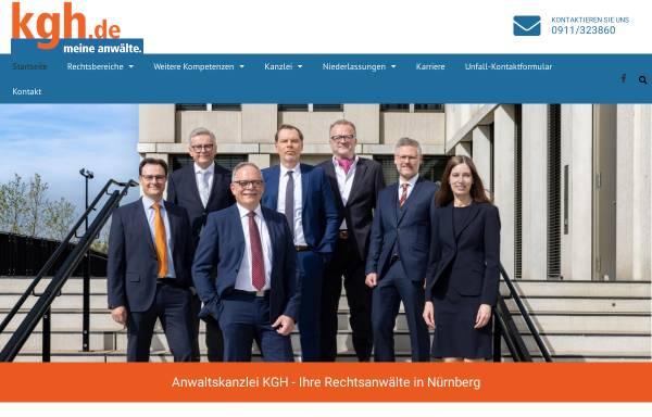 Vorschau von www.kgh.de, Rechtsanwaltskanzlei Kreuzer, Goßler und Horlamus