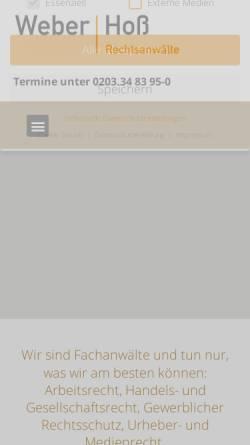 Vorschau der mobilen Webseite www.ra-hoss.com, Rechtsanwalt Dirk Hoß