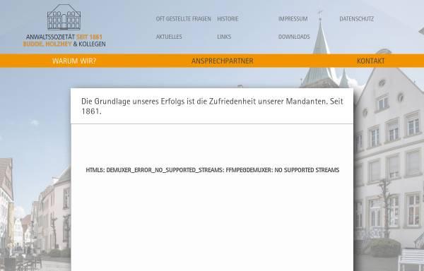 Vorschau von www.budde-holzhey.de, Rechtsanwälte Budde, Holzhey und Kollegen
