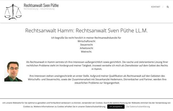 Vorschau von www.rechtsanwalt-hamm.info, Sven Püthe LL.M., Rechtsanwalt
