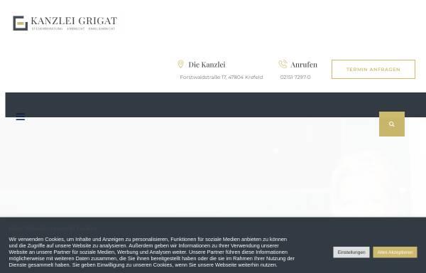 Vorschau von www.kanzlei-grigat.de, Kanzlei Grigat