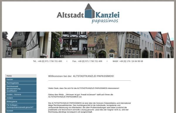 Vorschau von www.kanzlei-papassimos.de, Altstadtkanzlei Papassimos