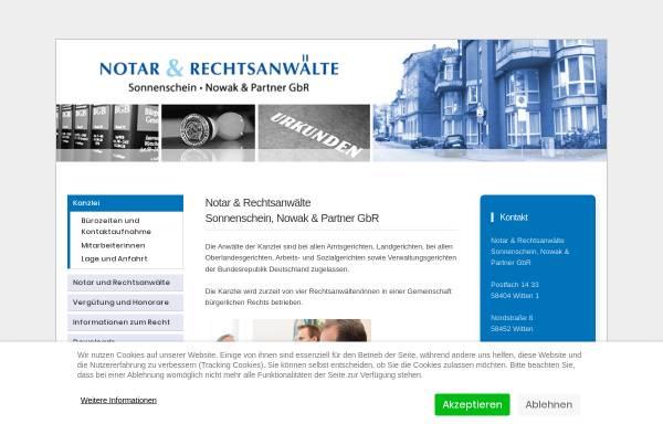 Vorschau von www.nws-witten.de, Rechtsanwaelte und Notare Nowak, Wegermann, Sonnenschein und Partner
