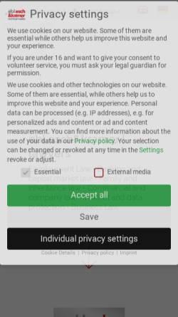 Vorschau der mobilen Webseite www.eschkramer.de, Esch & Kramer Rechtsanwälte
