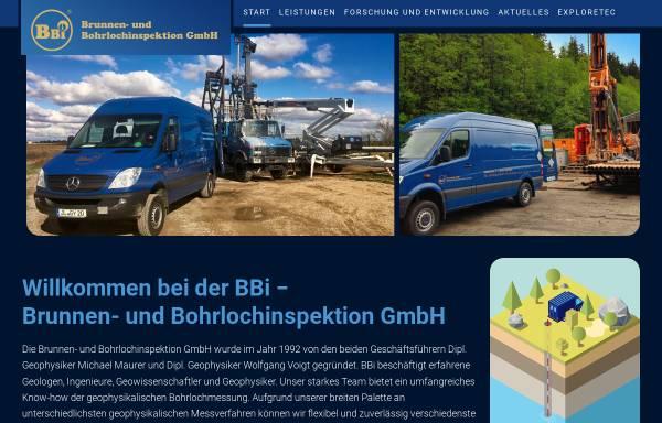 Vorschau von www.bbi.de, Brunnen- und Bohrlochinspektion GmbH (BBI)