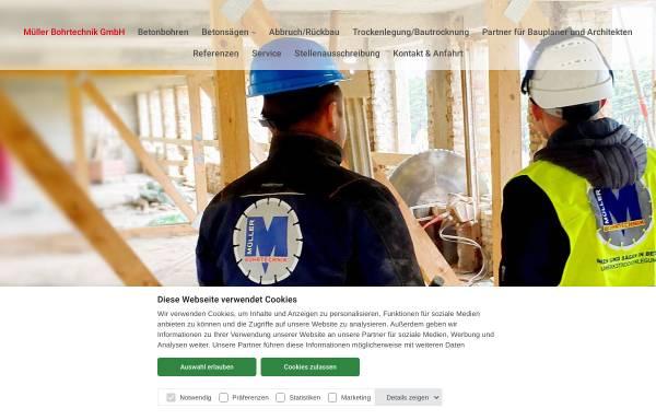 Vorschau von www.mueller-bohrtechnik.de, Müller Bohrtechnik GmbH
