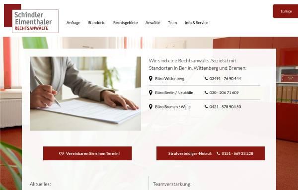 Vorschau von www.rechtsanwalt-schindler.de, Rechtsanwalt Jörg Schindler