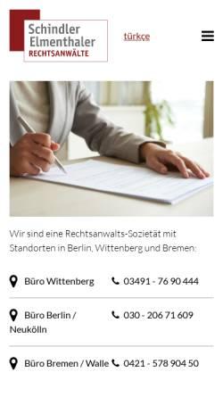 Vorschau der mobilen Webseite www.rechtsanwalt-schindler.de, Rechtsanwalt Jörg Schindler