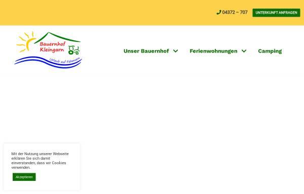 Vorschau von www.bauernhof-kleingarn.de, Bauernhof Kleingarn