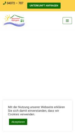 Vorschau der mobilen Webseite www.bauernhof-kleingarn.de, Bauernhof Kleingarn