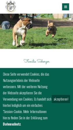 Vorschau der mobilen Webseite www.wallensteins-bulldogs.de, Wallenstein`s English Bulldogs