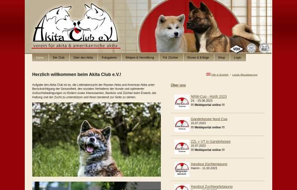 Vorschau von www.akita.de, Akita Club e.V.
