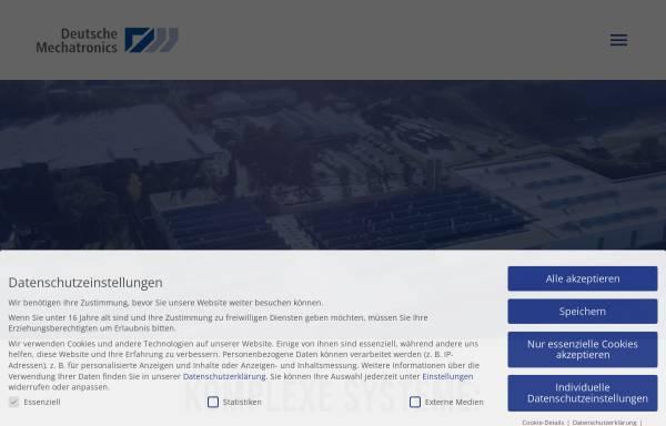 Vorschau von dtmt.de, Deutsche Mechatronics GmbH