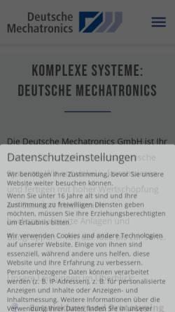 Vorschau der mobilen Webseite dtmt.de, Deutsche Mechatronics GmbH