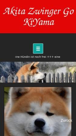 Vorschau der mobilen Webseite www.kiyama.de, Go KiYama