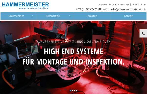 Vorschau von www.hammermeister.biz, Hammermeister Sondermaschinenentwicklung GmbH