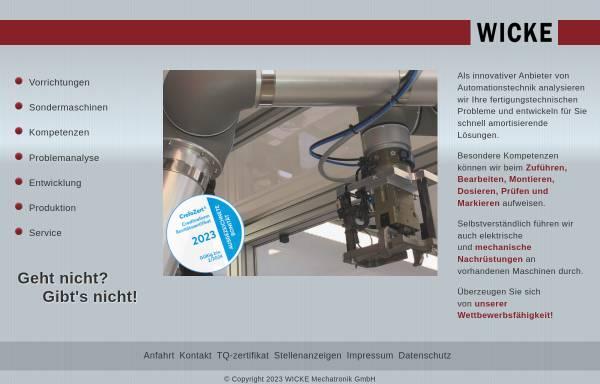 Vorschau von www.wicke.net, Hilmar Wicke - Industrieberatung