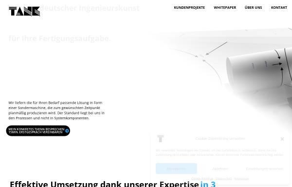 Vorschau von www.tank-gmbh.de, Ingenieurbüro Uwe Tank GmbH