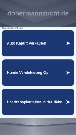 Vorschau der mobilen Webseite www.dobermannzucht.de, Black Bay