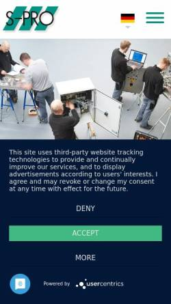 Vorschau der mobilen Webseite www.s-pro-automation.de, S-Pro Automation GmbH
