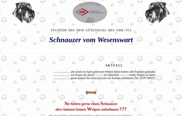 Vorschau von www.schnauzer-vom-wesenswart.de, Mittelschnauzer vom Wesenswart