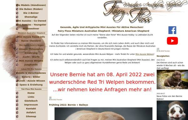 Vorschau von www.fairy-floss-aussies.de, Fairy-Floss