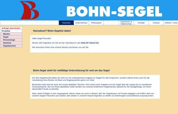 Vorschau von www.bohn-segel.de, Bohn-Segel GmbH