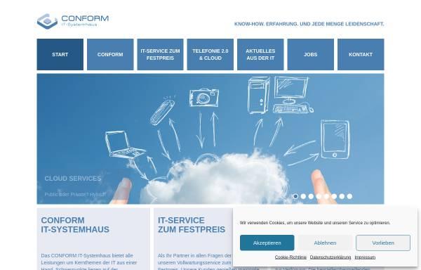 Vorschau von www.conform.de, Conform IT-Systemhaus GmbH