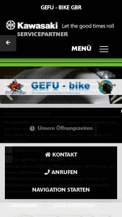 Vorschau der mobilen Webseite www.gefu-bike.de, Gefu-bike GmbH
