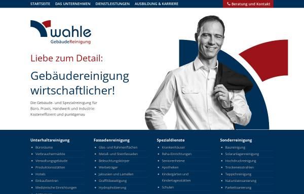 Vorschau von www.wahle-dienstleistungsgruppe.de, Glas- u. Gebäudereinigung Wahle GmbH