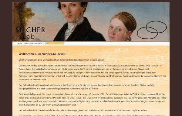 Vorschau von www.silcher-museum.de, Silcher-Museum des Schwäbischen Sängerbundes