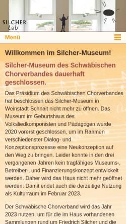 Vorschau der mobilen Webseite www.silcher-museum.de, Silcher-Museum des Schwäbischen Sängerbundes
