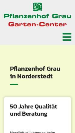 Vorschau der mobilen Webseite www.pflanzenhof-grau.de, Pflanzenhof Grau