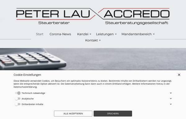 Vorschau von www.steuer1.de, Accredo Beratung und Betreuung GmbH; Peter Lau, Steuerberater