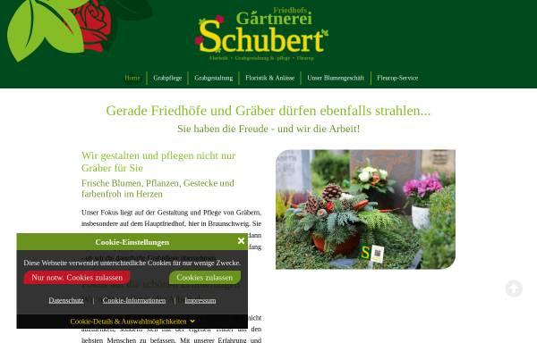Vorschau von www.gaertnerei-schubert.com, Friedhofsgärtnerei Schubert
