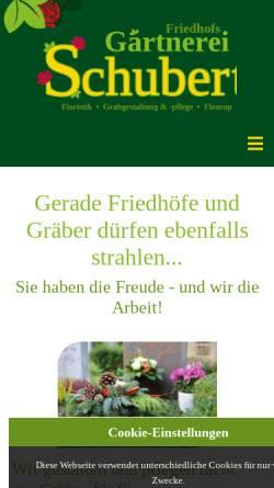 Vorschau der mobilen Webseite www.gaertnerei-schubert.com, Friedhofsgärtnerei Schubert