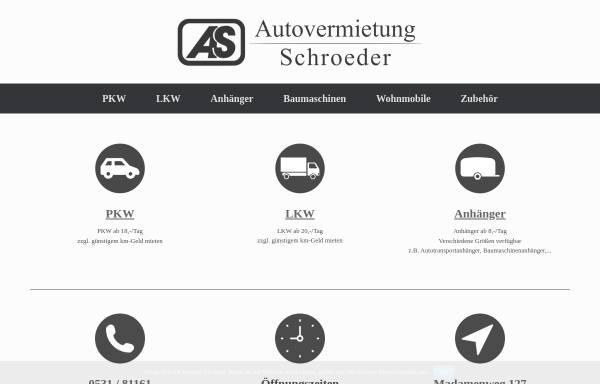 Vorschau von www.autovermietung-schroeder.de, Autovermietung Schroeder