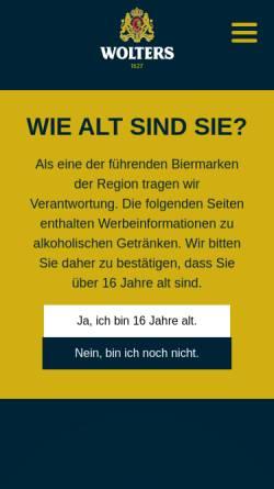 Vorschau der mobilen Webseite hofbrauhaus-wolters.de, Hofbrauhaus Wolters GmbH