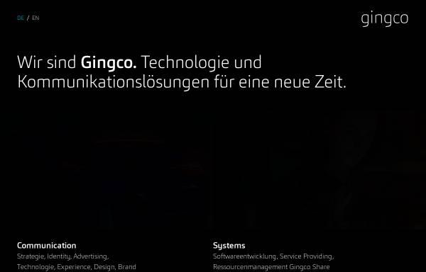Vorschau von www.gingco.net, Gingco Werbeagentur GmbH & Co. KG