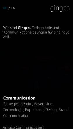 Vorschau der mobilen Webseite www.gingco.net, Gingco Werbeagentur GmbH & Co. KG
