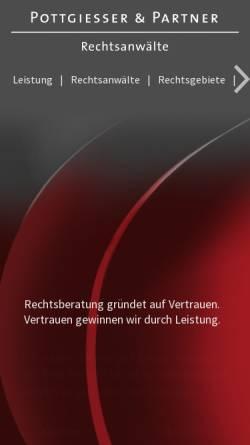 Vorschau der mobilen Webseite www.pottgiesser.de, Rechtsanwaltskanzlei Cornel Pottgiesser