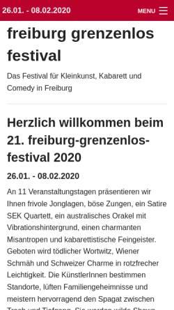 Vorschau der mobilen Webseite www.freiburg-grenzenlos-festival.de, Freiburg-Grenzenlos-Festival