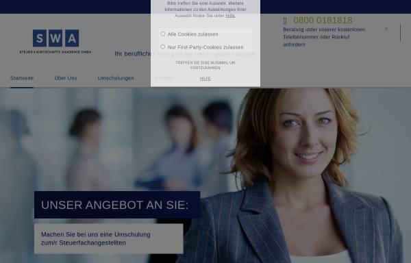 Vorschau von www.swa.de, SWA - Steuer u. Wirtschafts-Akademie GmbH