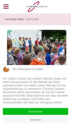 Vorschau der mobilen Webseite www.annefrankgrundschule.de, Anne Frank Schule