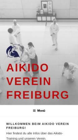 Vorschau der mobilen Webseite www.aikido-freiburg.de, Aikido Verein Freiburg