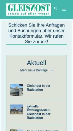 Vorschau der mobilen Webseite www.gleisnost.de, Gleisnost