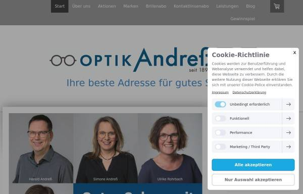 Vorschau von www.andress.de, Andreß Augenoptik GmbH