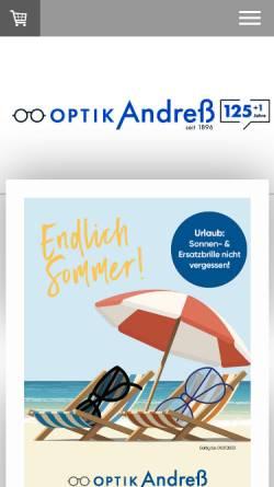 Vorschau der mobilen Webseite www.andress.de, Andreß Augenoptik GmbH