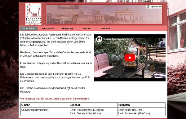 Vorschau von www.berlin-apartments-mitte.de, Apartment Berlin Messe